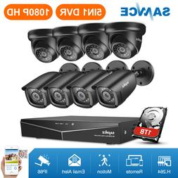 SANNCE 1080N CCTV 8CH DVR 720P HD IR Night Vision Security C