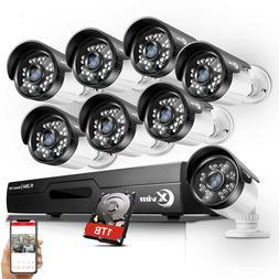 XVIM 1080N HDMI HD-TVI 8CH 4CH DVR IR Night CCTV Security Ca
