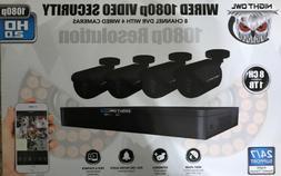 Night Owl 1080p 2.0HD, 4-Wired Cameras 1TB, 8 Channel DVR Br