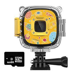 Rosefray Kids Camera,1080P HD Kids Action Camera, 30m Wate