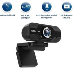 1080P Full HD USB Webcam for PC Desktop & Laptop Web Cameras