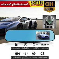 1080P HD Car Dash Cameras Dual Cam Vehicle Front Rear DVR Le