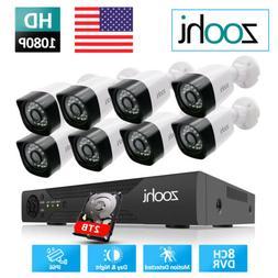 1080P HD CCTV Camera System Home Security IP APP P2P IR Nigh