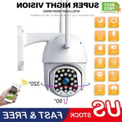 1080P HD IP CCTV Camera Waterproof Outdoor WiFi PTZ Security