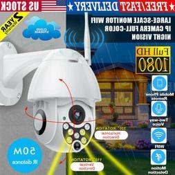 1080P HD Waterproof Outdoor WiFi PTZ Pan Tilt Security IP IR