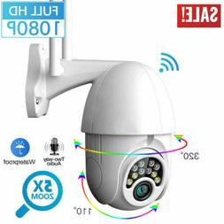 1080P HD Waterproof Home Outdoor WiFi PTZ IR Cam Security Ca