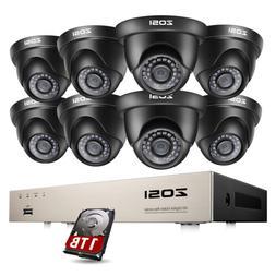 ZOSI 8CH H.265+ HDMI DVR 1080P HD Outdoor CCTV Home Security