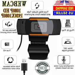 1080P Webcam Auto Focusing Web Camera HD Cam Microphone For