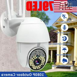 1080P WIFI IP Camera Wireless Outdoor CCTV HD PTZ Smart Home