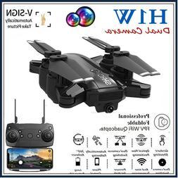 1080P Wifi RC HD Camera Drone Follow Me Aircraft Foldable Qu