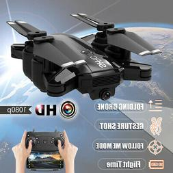 1080P Wifi RC HD Camera Drone  Follow Me Aircraft Foldable Q