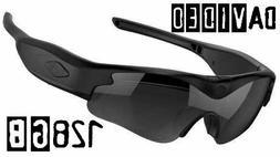 128GB daVideo Rikor 1080P HD Camera Glasses Video Recording