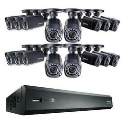 Lorex 16-Channel 1TB DVR with 16x HD Bullet Security Cameras