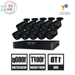 Night Owl 16-Channel HD Wired DVR with Pre-Installed 1TB .10
