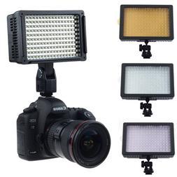 160 LED Video Light Hot Shoe Lamp Photo Studio Lighting for