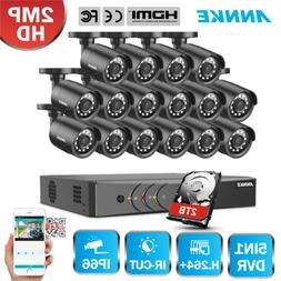 ANNKE 16CH 5in1 HD 1080P Lite DVR 16x 2MP IR CCTV Security C