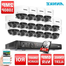 ANNKE 16CH 6MP HD POE Security NVR 4/8/12/16 pcs Cameras 108