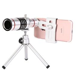 18X Zoom Universal Telephoto Telescope HD Camera Lens Tripod