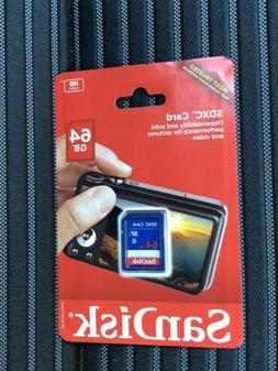 1pcs 64gb SanDisk SDXC Flash Memory Card Class 4 HD for NIKO