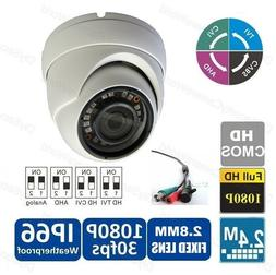 2.4MP 1080p HD Sony CMOS Outdoor IR Dome Security Cameras 2.