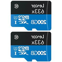 2 Pack Lexar High-Performance microSDXC 633x 200GB Class 10