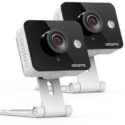 Zmodo 2 Pack Mini HD Wireless Indoor Security Camera Night V