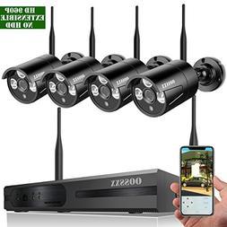 【2018 update】 8-Channel HD 1080P Wireless Network/IP Sec