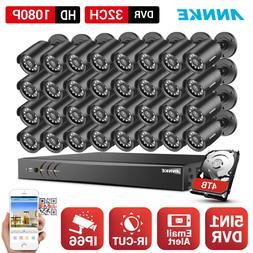 ANNKE 32CH HD 1080N Onvif DVR In/Outdoor IP66 IR CCTV Securi