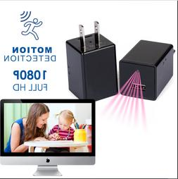 32GB 1080P USB Mini Motion Wall Charger Build-in Camera US A