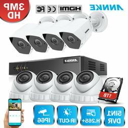 ANNKE 3MP TVI Video 8CH 5in1 Smart Search DVR HD IR Home Sec
