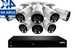 LOREX 4K Ultra HD 16-CH IP Security System 8 Smart Deterrenc