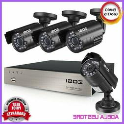 4 Camara De Seguridad DVR Casa Vision Noche HD Wifi Inalambr