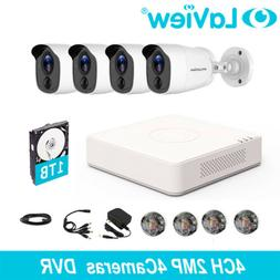HD 1080P DVR 4 CH 2MP 4 Cameras Home Security Surveillance C