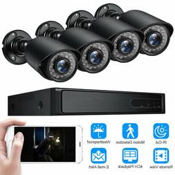 4 CH 4 Cameras Outdoor Home Security Surveillance Camera 108