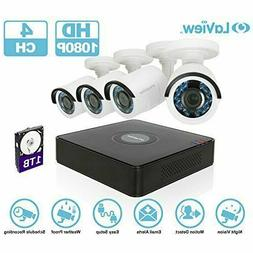 *NEW* LaView 1080P HD 4 Ch 4 Cameras Wireless Security Syste