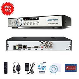 HISVISION 4CH 1080N AHD DVR 3-in-1 Hybrid CCTV Home Security