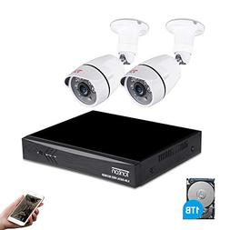 Tonton 4CH Full HD 1080P Expandable Security Camera System,