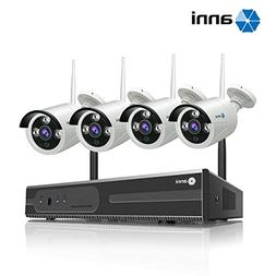 Anni 4CH 720P HD Surveillance System, Wireless NVR Kit with