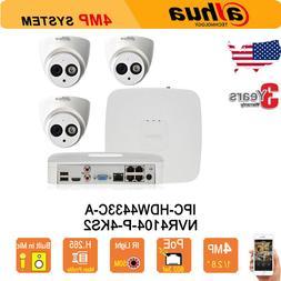Dahua 4CH POE 4K Kit H.265 NVR4104-P-4KS2 4MP HD IR 50M IP C