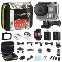 4K Action Camera Dual Screen Ultra HD 16MP <font><b>Camcorde