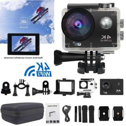 4K Action Camera WiFi Camcorder 16MP Ultra HD Camera Waterpr