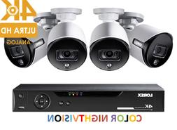 LOREX 4K Ultra HD 8 Channel Security System with 4 Active De
