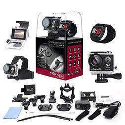 XtremePro 4K Ultra HD Camera Bundle Wireless Wrist Remote an