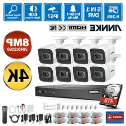 ANNKE 4K Video CCTV System 8CH DVR 8MP Outdoor Vivid HD Came