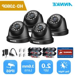 ANNKE 4pcs HD 1080P Home Security Camera Kit Outdoor 2MP IR