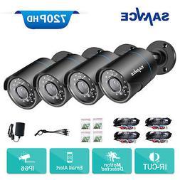 SANNCE 4pcs HD 720P 1500TVL Indoor Outdoor Security CCTV Cam