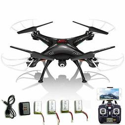 5 Batteries Syma RC Quadcopter X5SW-V3 2.4Ghz 4CH WIFI FPV D
