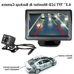 5 inch TFT LCD Monitor Car Backup Reverse HD Camera Rear Vie