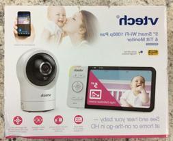 "vTech 5"" Smart WIFI 1080p Pan & Tilt Monitor RM5764HD White"