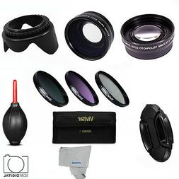 58MM HD Lens Set & Filter Kit for CANON EOS REBEL CAMERAS